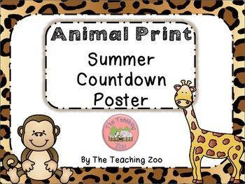 500 Follower Celebration! Day 2 Freebie - Zoo Animal Summe