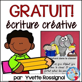 Freebie! Gratuit! French Writing Prompts! Écriture, French NO PREP