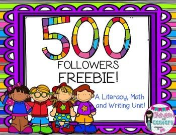 500 Followers FREEBIE Unit