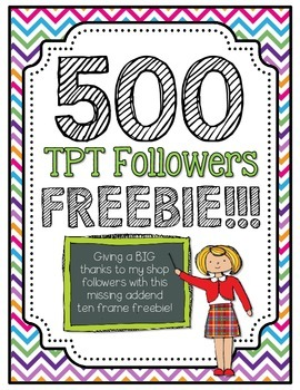 500 Followers Freebie: Missing Addends