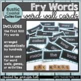 500 Fry Words-Word Wall Cards (Rustic Coastal)
