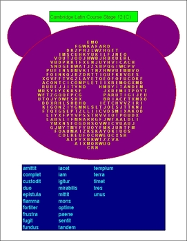 500 Latin Word Searches With Answers