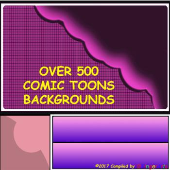 500 Plus BACKGROUNDS BY COMIC TOONS VOLUME 1: TPT Sellers / Creators / Teachers