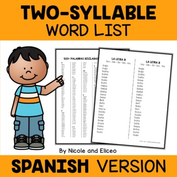 Spanish Disyllabic Word Lists