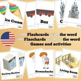 500 X 2 English Flashcards Set 2 (1000 flash cards with wo