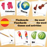 500 X 2 ٍSpanish Flashcards Set 1 (1000 flash cards with w