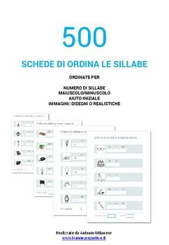 """500 schede di """"Ordina le sillabe"""""""