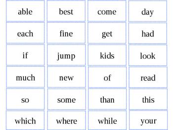 500 sight words
