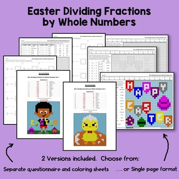 Easter Dividing Fractions by Whole Numbers