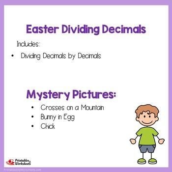 Easter Dividing Decimals by Decimals