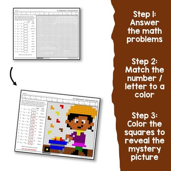 Fraction Coloring Sheet For Fall, Fraction Operations Coloring Activity