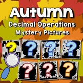 Fun Coloring Pages For Fall, Decimal Operation Project Mystery Pictures Activity