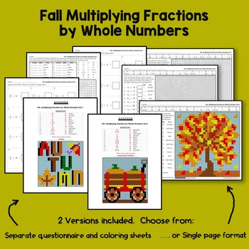 Fall Multiplying Fractions by Whole Numbers