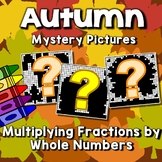 Fractions Mystery Pictures, Fall Multiplying Fractions Coloring Pages