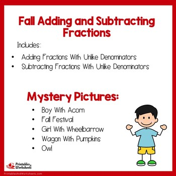 Fall Adding and Subtracting Fractions With Unlike Denominators