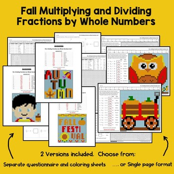 Fall Multiplying and Dividing Fractions by Whole Numbers