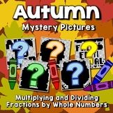 Multiplying And Dividing Fractions Coloring Sheets, Fall Mystery Math Pictures