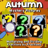 Multiply And Divide Fraction Color By Number, Mystery Picture Fall Math Pages