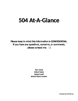504 At-A-Glance Cover Page