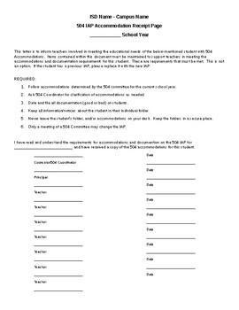 504 Group Receipt Document