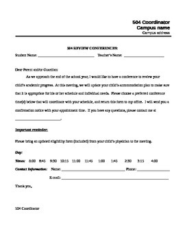 504 conference letter (editable)