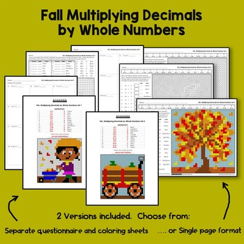 Fall Multiplying Decimals by Whole Numbers