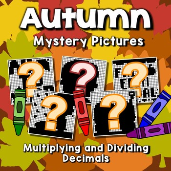 Math Fall Projects On Decimal, Multiplying And Dividing Decimals Coloring Sheets