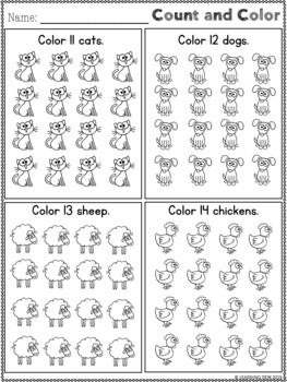 Counting and Cardinality (Counting Worksheets)