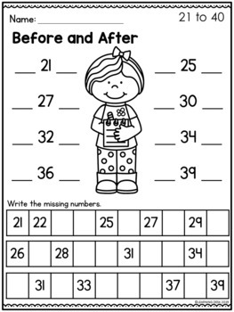 Counting and Cardinality Kindergarten-Counting Worksheets