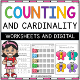 Counting and Cardinality Number Sense Recognition 1-100 Worksheets Activities