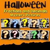 Halloween Fractions And Decimals Project, Math Mystery Coloring Pages
