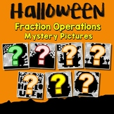 Mystery Picture Halloween Fraction Operation Project, Coloring Pages For October