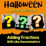 Middle School Math Halloween Adding Fraction Coloring Worksheet Like Denominator
