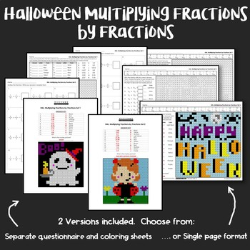 Halloween Multiplying Fractions by Fractions