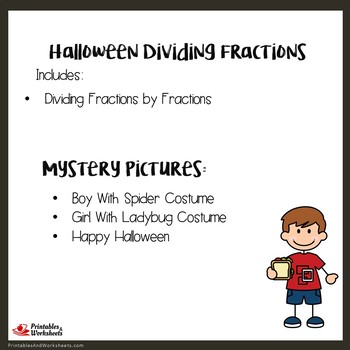 Halloween Dividing Fractions by Fractions