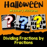 Mystery Coloring Picture, Halloween Fraction Division Activity