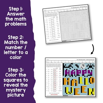 Halloween Adding And Subtracting Fractions With Unlike Denominators Worksheets