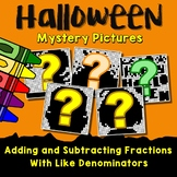 Halloween Adding and Subtracting Fractions With Like Denominators