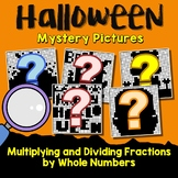 Math Halloween Multiplying And Dividing Fractions Project, Mystery Picture Pages