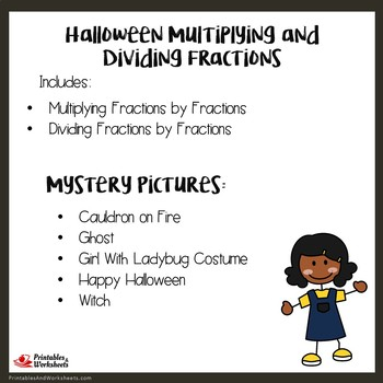 Halloween Multiplying and Dividing Fractions by Fractions