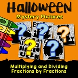 Fun Halloween Multiplication And Division Of Fractions Activity Coloring Pages