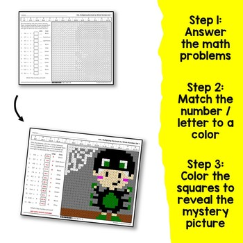 Halloween Mystery Picture Math Multiplying Decimals By Whole Numbers Activity