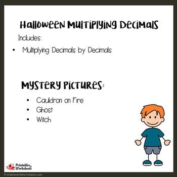 Halloween Multiplying Decimals by Decimals