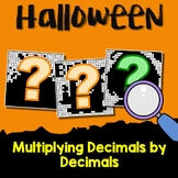 Halloween Multiplying Decimals Project, Color By Number Code Worksheets