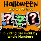 Halloween Dividing Decimals By Whole Numbers Activity Mystery Coloring Pages