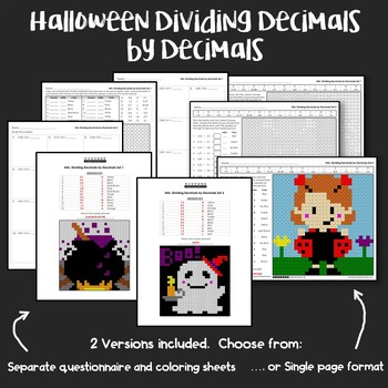 Halloween Dividing Decimals by Decimals