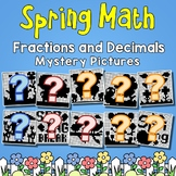Spring Fractions and Decimals Mystery Pictures
