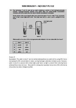 5090 Biology Paper 1 variant 12 solved