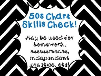 50s Chart Worksheet/Assessment/Homeword