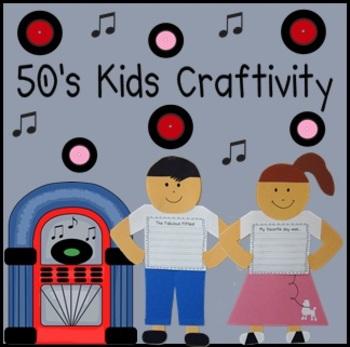 50's Day Writing Craftivity